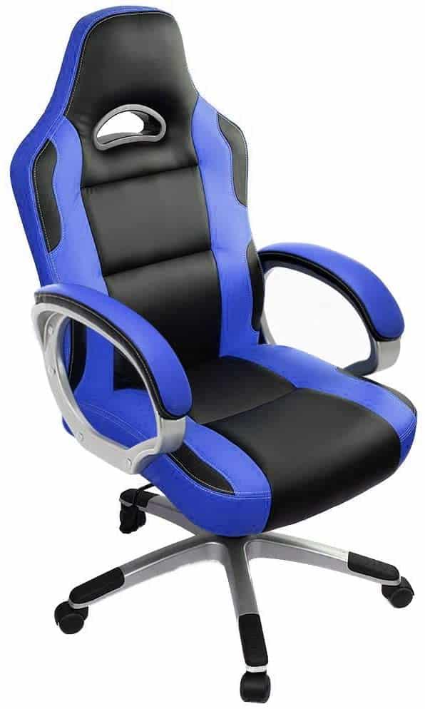 IntimaTe WM Heart Racing Chaise De Bureau Gaming (Bleu)